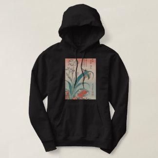 Moletom Íris do martinho pescatore de Hokusai e rosa