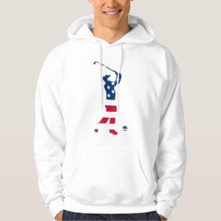 Moletom Jogador de golfe do americano do golfe dos EUA