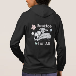 Moletom Justiça do Vegan para todo o Hoodie