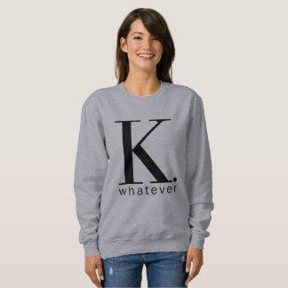 Moletom K a camisola cinzenta do que mulheres