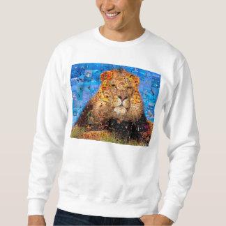 Moletom leão - colagem do leão - mosaico do leão - leão