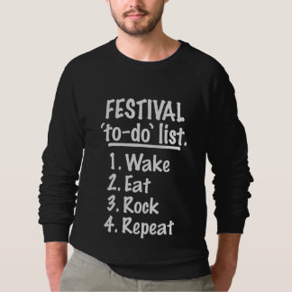 Moletom Lista do tumulto do ` do festival' (branca)