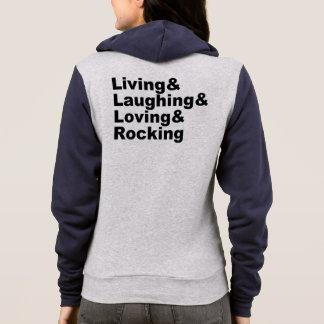 Moletom Living&Laughing&Loving&ROCKING (preto)