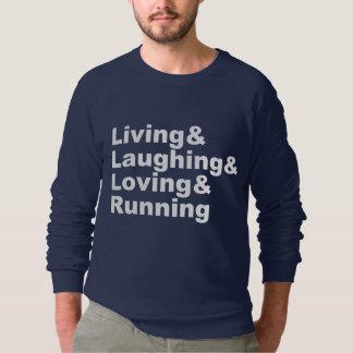Moletom Living&Laughing&Loving&RUNNING (branco)