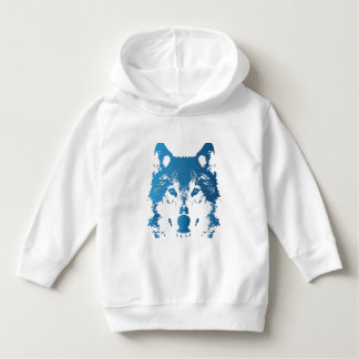 Moletom Lobo do azul de gelo da ilustração