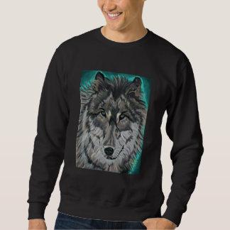 Moletom Lobo na camisola do gelo da cerceta