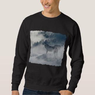 Moletom Lobos na camisola da névoa do inverno