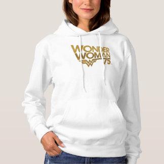 Moletom Logotipo do ouro do aniversário da mulher