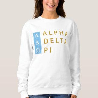 Moletom Logotipo empilhado | alfa do Pi do delta