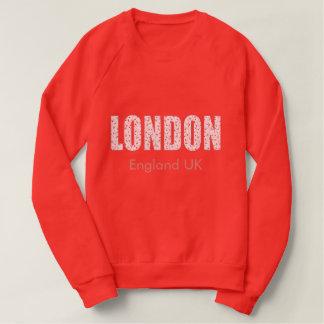 Moletom Londres (teste padrão, tipografia de flor do