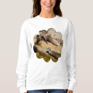 Moletom Lontras Sunbaking em rochas,