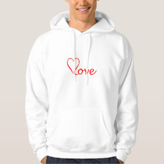 Moletom Love coração em pano de fundo branco