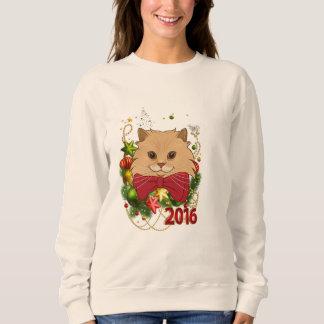 Moletom Luigi a camisola feia do Natal do gato do leão