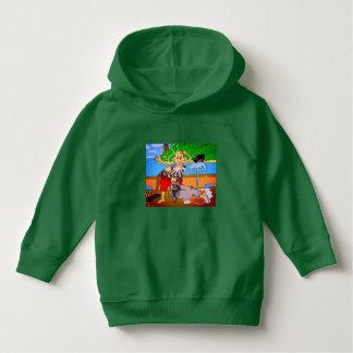 Moletom ❤️ Luv de Luv U mim hoodie verde do pirata pelo
