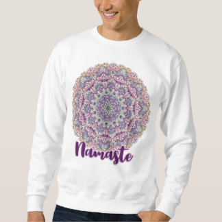 Moletom Mandala floral cor-de-rosa de Namaste e roxa