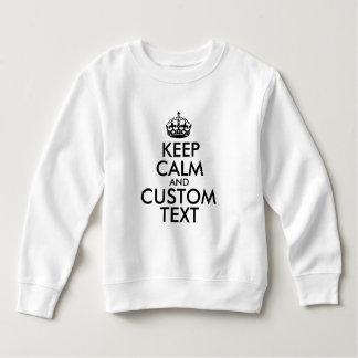 Moletom Mantenha a calma e criar seus próprios fazem para