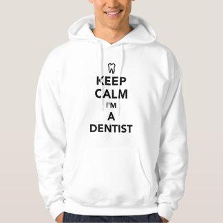 Moletom Mantenha a calma que eu sou um dentista