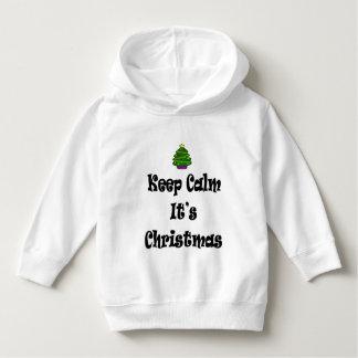 Moletom Mantenha a calma seus Natal e árvore