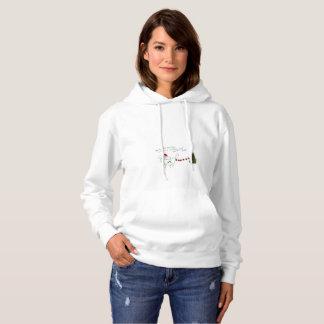 Moletom margarida o hoodie do Natal das senhoras de Shih