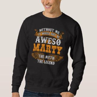 Moletom MARTY de Aweso uma legenda viva verdadeira