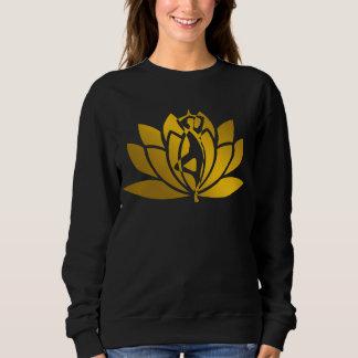 Moletom Meditação dourada da ioga da flor de Lotus legal