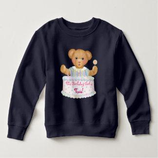 Moletom Menina do urso do aniversário - segundo