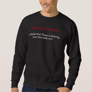 Moletom Minimalismo niilista (preto da camisola dos