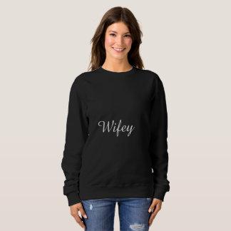 Moletom Na moda elegante à moda preto e branco de Wifey