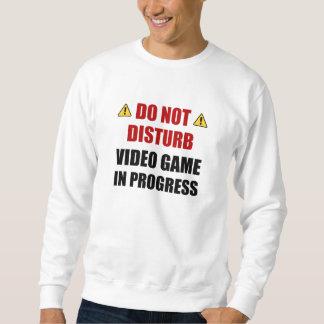 Moletom Não perturbe o jogo de vídeo