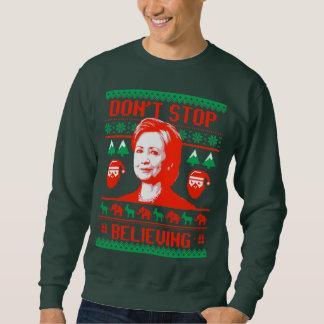 Moletom Natal de Hillary - não pare de acreditar -