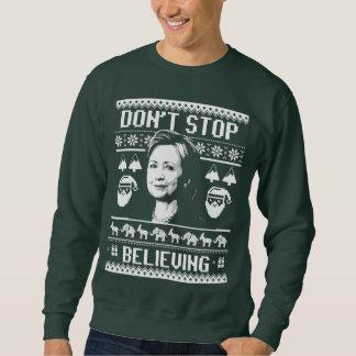 Moletom Natal de Hillary - não pare de acreditar - branco