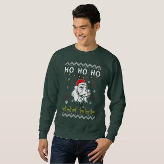 Moletom Natal feio do cão do lebreiro Ho Ho Ho