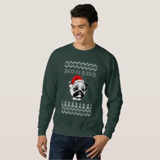 Moletom Natal feio do cão do Pug Ho Ho Ho
