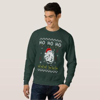 Moletom Natal feio Terrier do cão branco de Westie Ho Ho