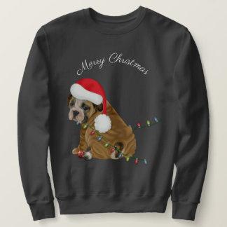Moletom Natal inglês do filhote de cachorro do buldogue