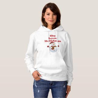 Moletom Nós amamos o hoodie das mulheres dos feriados