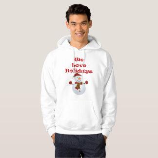 Moletom Nós amamos o hoodie dos homens dos feriados