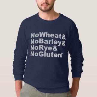 Moletom NoWheat&NoBarley&NoRye&NoGluten! (branco)