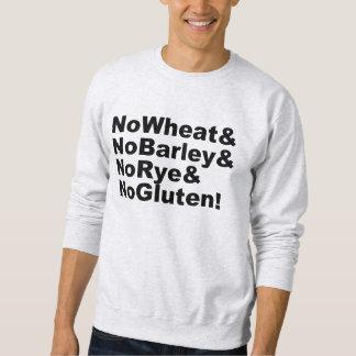 Moletom NoWheat&NoBarley&NoRye&NoGluten! (preto)