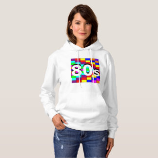 Moletom O ` 80s de Sharnia coloriu camisola encapuçado da