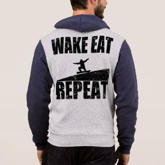 Moletom O acordar come a repetição #2 do Snowboard (o