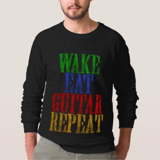 Moletom O acordar come a repetição da GUITARRA