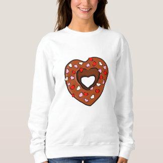 Moletom O amor da rosquinha do coração do chocolate