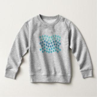 Moletom O azul acena a camisola da criança