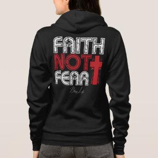 Moletom O Bella das mulheres do medo da fé não+Hoodie do