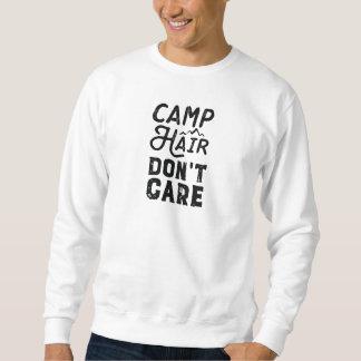 Moletom O cabelo do acampamento não se importa