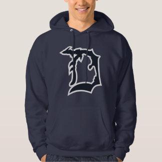 """Moletom O Detroit """"D"""" dos homens com o hoodie superior da"""