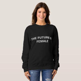 Moletom O futuro é fêmea - camisola preta