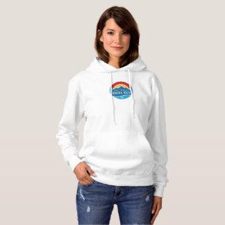 Moletom O hoodie básico das mulheres com logotipo redondo