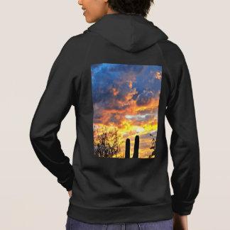 Moletom O Hoodie das mulheres do céu do Saguaro